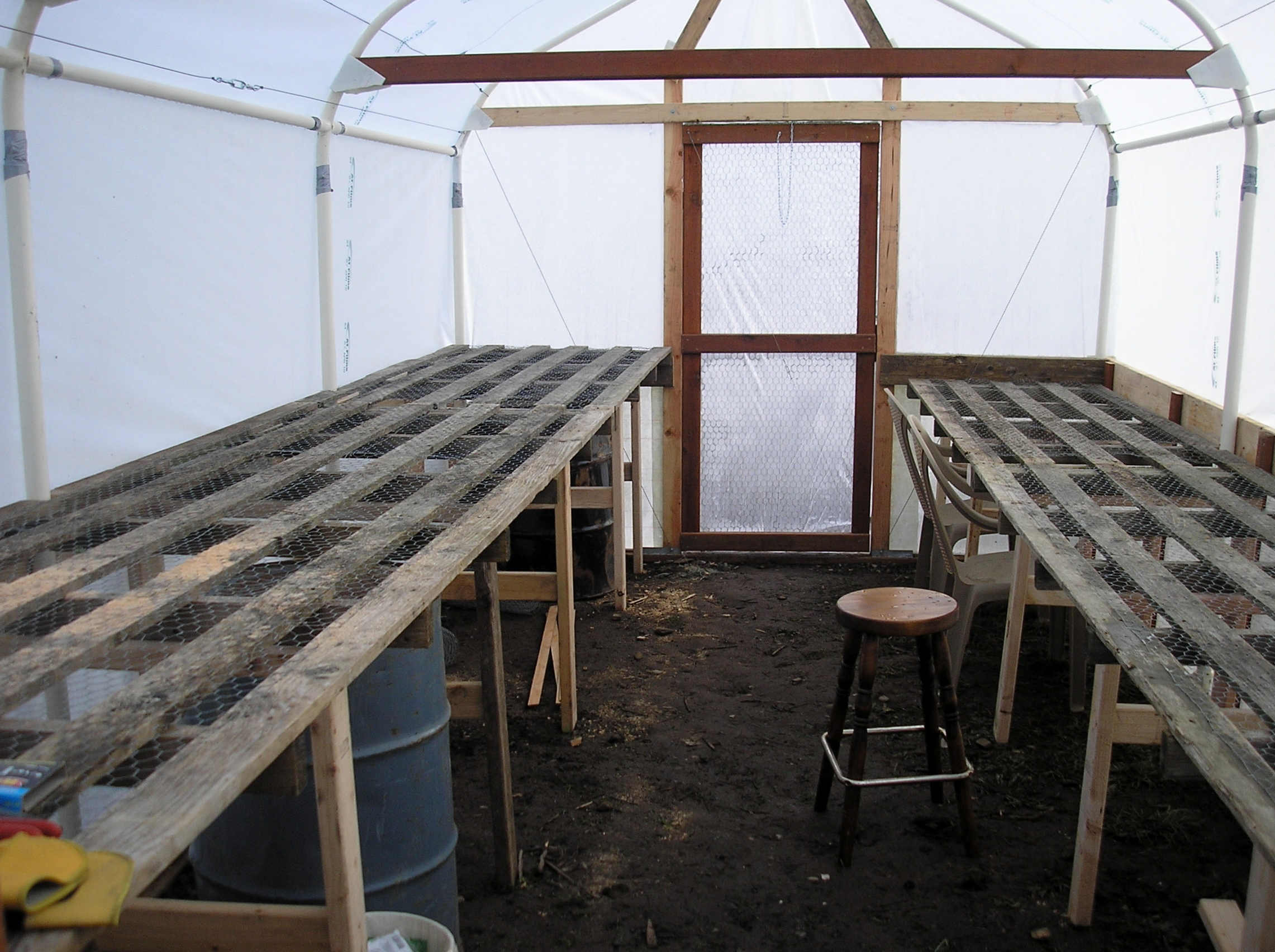 jerrys carport tube frame greenhouse the self reliant community of graham